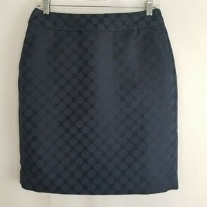 BANANA REPUBLIC Blue Circles Print A-line Skirt 6